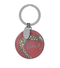 Harrods Heart Diamante Key Ring Unisex