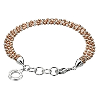 Hot Diamonds Sterling Silver Bead Bracelet Rose Gold Silver