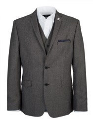 Lambretta Slim Grey Check Three Piece Suit