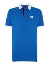 Canterbury Of New Zealand Country Pique Polo Blue