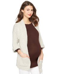 A Pea In The Pod Maternity Cardigan Convertible Sleeve Drop Shoulder