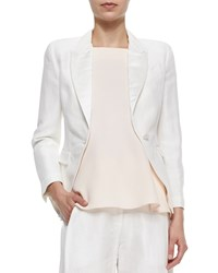 Adam By Adam Lippes Peaked Lapel Cropped Blazer Ivory