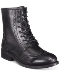 Wanted Rickey Lace Up Oxford Booties Women's Shoes Black