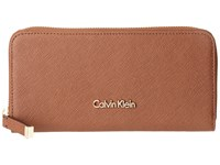 Calvin Klein Saffiano Wallet Luggage Wallet Handbags Brown