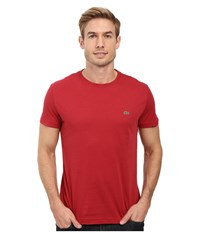 Lacoste Short Sleeve Pima Jersey Crewneck T Shirt Intense Men's T Shirt Red