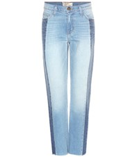 Current Elliott The Seamed Vintage Straight Jeans Blue