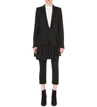 A.F.Vandevorst Booking Layered Wool Blazer Black