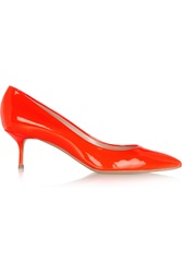 Casadei Neon Patent Leather Pumps