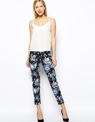Oasis Soft Rose Print Pant Multi