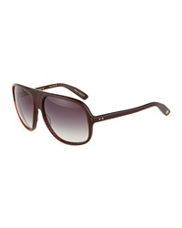Dita Maximillian Oval Plastic Sunglasses Red Carbon