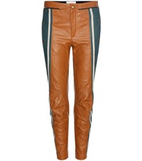 Chloe Leather Trousers Brown