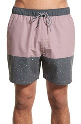 Men's Katin 'Fling Volley' Swim Trunks Mauve Black