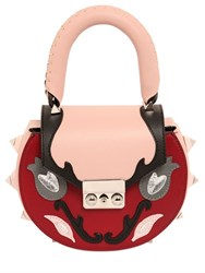 Salar Mimi Marie Floral Patches Leather Bag