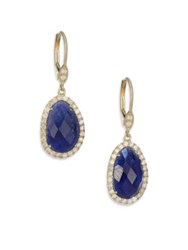 Meira T Sapphire Diamond And 14K Yellow Gold Drop Earrings