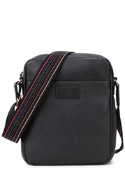 Paul Smith City Webbing Small Leather Messenger Bag Black