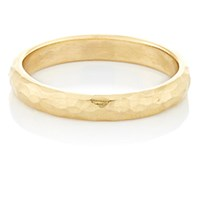 Cathy Waterman Women's Hammered Gold Band No Color