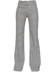 Gareth Pugh Prince Of Wales Flared Wool Pants
