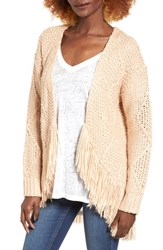 Cotton Emporium Women's Fringe Open Front Cardigan