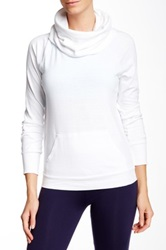 Solow Funnel Neck Pullover White
