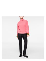 Paul Smith Women's Pink Cashmere Roll Neck Sweater