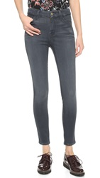 7 For All Mankind The High Rise Skinny Jeans Bastille Grey