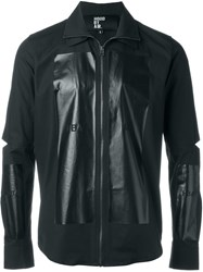 Hood By Air Contrast Panel Zip Up Shirt Black