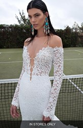 Women's Berta Plunging V Neck Long Sleeve Lace Dress In Stores Only