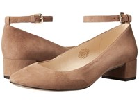 Nine West Everina Natural Suede Women's Shoes Tan