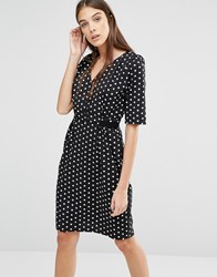 Trollied Dolly My Tie Polka Dot Dress Black