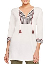 Soft Joie Rane Embroidered Tunic Porcelain