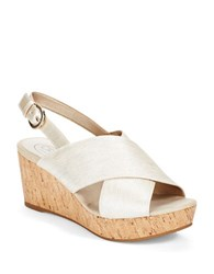Circa Joan And David Wandy Wedges Off White Natural