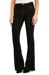 Women's Paige Denim 'Bell Canyon' High Rise Suede Flare Pants Black