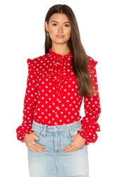Motel Prairie Shirt Red
