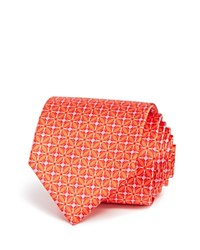 Bloomingdale's The Men's Store At Cross Box Dot Classic Tie Orange