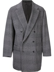 H Beauty And Youth. Double Breasted Check Jacket Grey