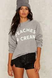 Private Party Peaches And Cream Sweatshirt Gray