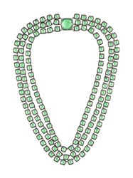 Larkspur And Hawk 'Antoinette 3 Strand Rivia Re' Necklace Green