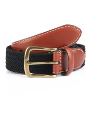 Dents Mens Formal Polyester Belt Black