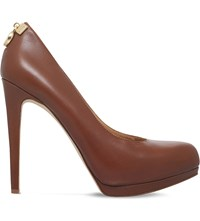 Michael Michael Kors Hamilton Leather Platform Court Shoes Mid Brown