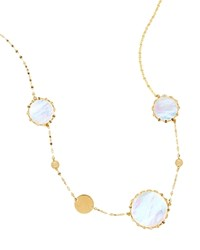 Lana Jewelry 14K Yellow Gold Short Blanca Gypsy Necklace With Mother Of Pearl 18
