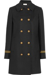 Tory Burch Optique Wool Blend Gabardine Coat Black
