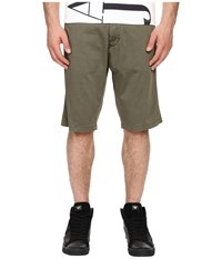 Armani Jeans Slim Low Rise Shorts Green