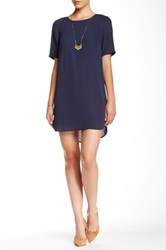 Daniel Rainn Solid Shift Dress Blue