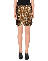 Marco Bologna Mini Skirts Gold