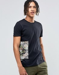 Hype T Shirt With Bandana Side Print Black Green