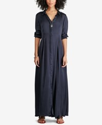 Denim And Supply Ralph Lauren Satin Maxidress Blue