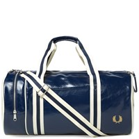 Fred Perry Classic Barrel Bag Blue