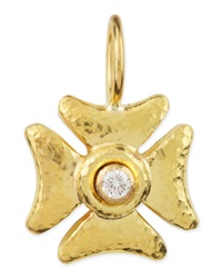 Small Diamond Maltese Cross Pendant Elizabeth Locke