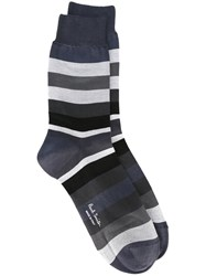 Paul Smith Striped Socks Grey