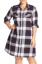 Caslonr Plus Size Women's Caslon Two Pocket Plaid Shirtdress